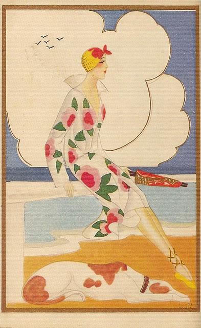 Anonymous Art Deco Postcard, 1920s