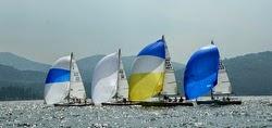 J/80 sailboats on Lake Winnipesaukee, NH