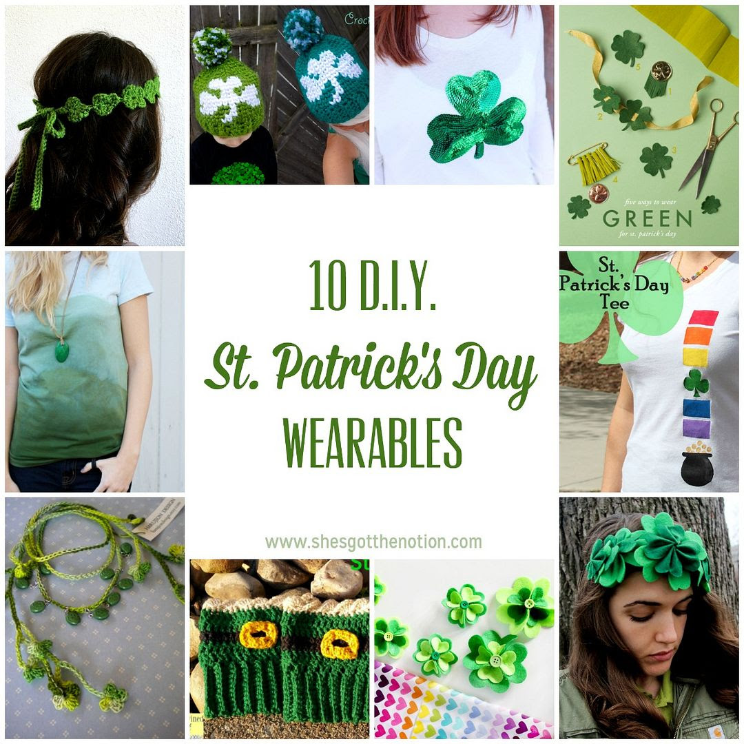 10 Diy St Patricks Day Wearables