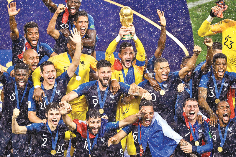 FRANCE bags 2018 football World Cup