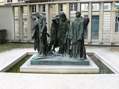 Paris Skulpturengarten Rodin Die Bürger von Calais Foto Brandt