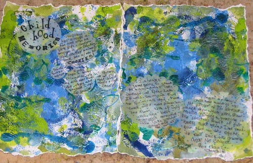 Art Journal #7  Childhood Memories 003