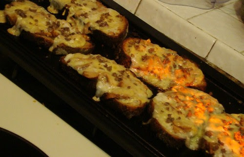 Chanterelle Grilled Cheese Cooking