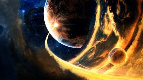 space planet digital art wallpapers hd desktop