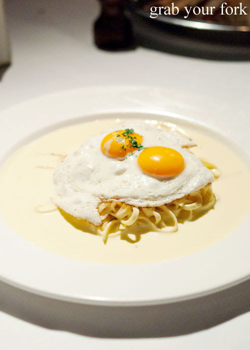 Truffle egg pasta at Buon Ricordo, Paddington