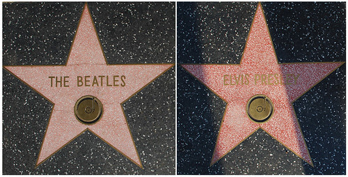 The Beatles' and Elvis's Walk of Fame Stars