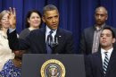 U.S. President Barack Obama speaks about negotiations with Capitol Hill while in Washington
