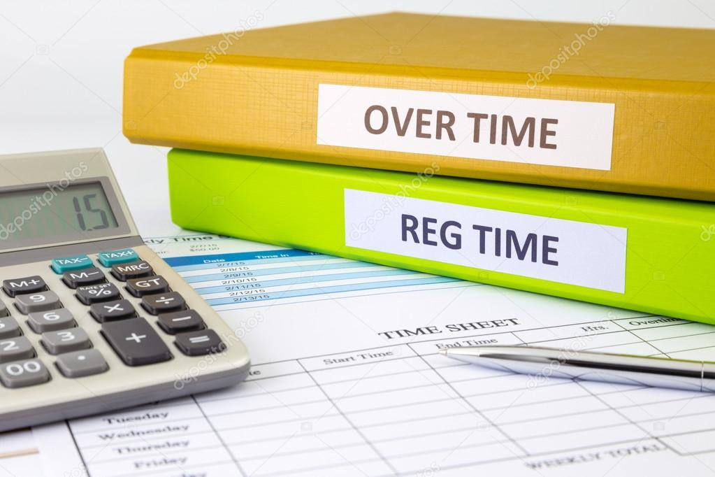 Daily time record with blank payroll time sheet — Stock Photo ...