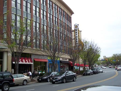 Looking towards Landmark Theaters, Bethesda Row