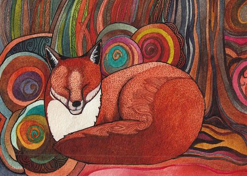 Fox in Autumn by megan_n_smith_99
