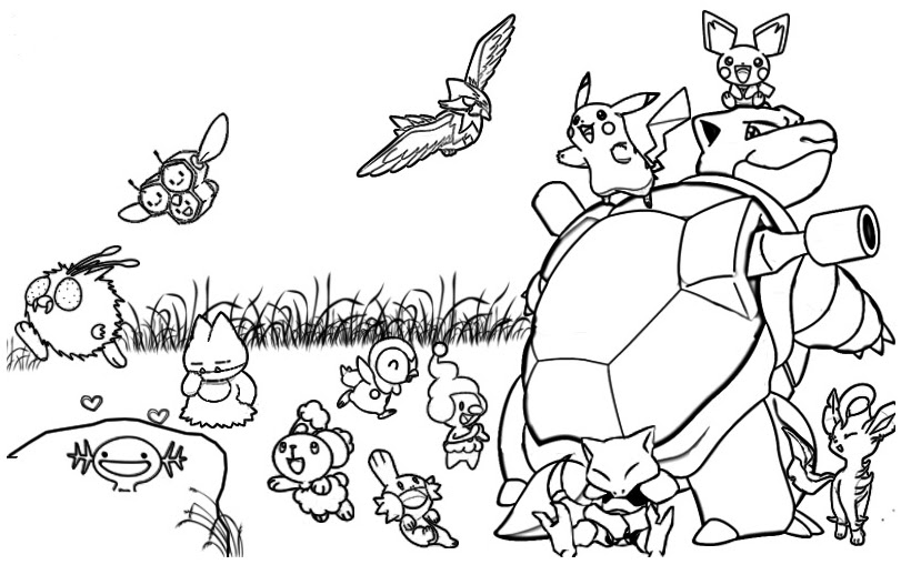 Pokemon Coloring Pages Games At Getcolorings Com Free Printable