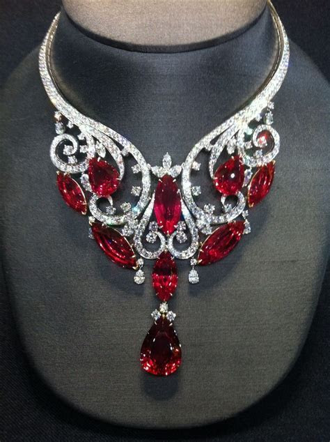 15 Beautiful Ruby Necklace Jewellery Designs   Styles At Life