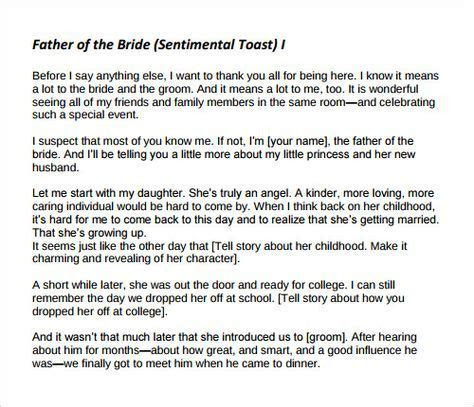 father   bride wedding speeches samples yahoo image