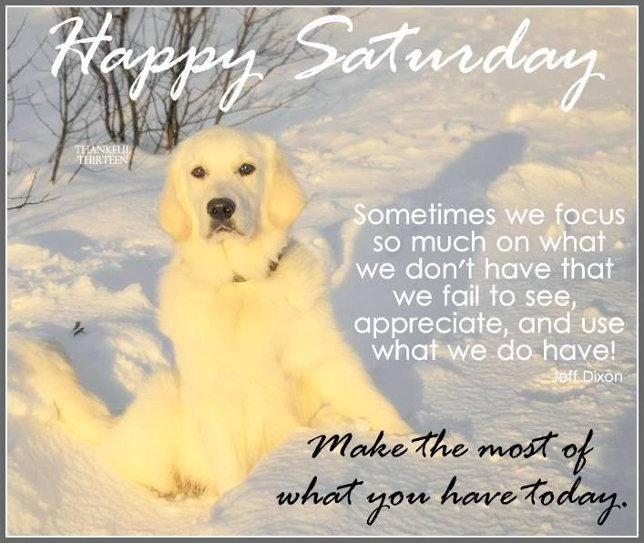Happy Saturday Make The Most Of What You Have Today Pictures Photos