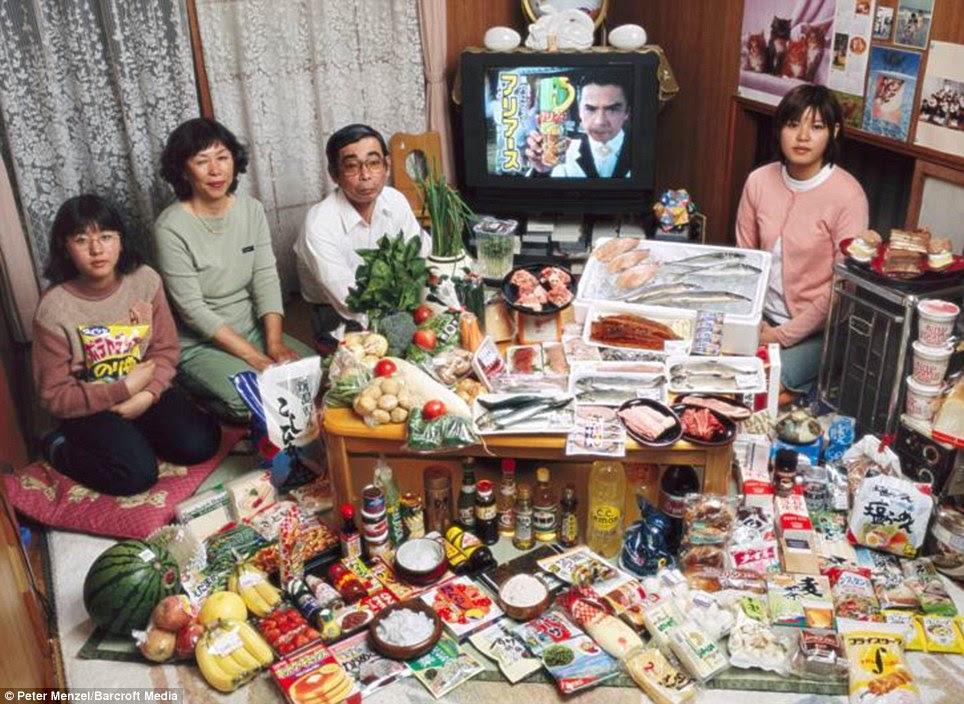 Ιαπωνία: Η οικογένεια Ukita από Kodaira πόλη με £ 200 εβδομαδιαία κατάστημα τροφίμων τους