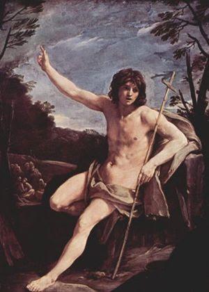 Guido Reni (1575 - 1642), San Giovanni Battista nel deserto, ca. 1640