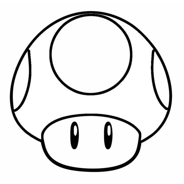 Disegno Di Funghetto Di Super Mario Bros Da Colorare Per Bambini