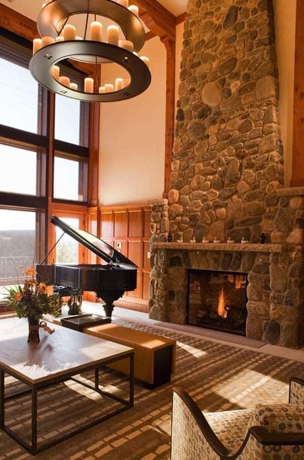 Ideas For Living Room Stone Fireplace Decor Photos