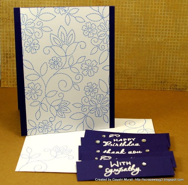 Purple card set