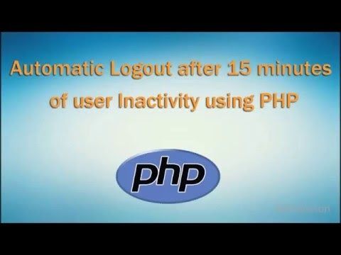 Automatic Logout after 15 minutes of user Inactivity using