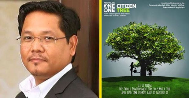 Meghalaya Will Achieve A New Record By Planting 1.5 Million Trees Under 'One Citizen One Tree' Campaign
