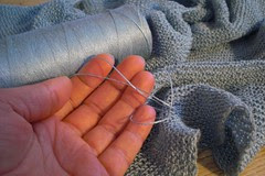 """""""Mom, why are you knitting with sewing tread?"""""""
