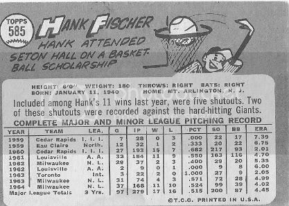 #585 Hank Fischer (back)