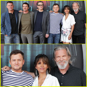 Channing Tatum, Taron Egerton & Halle Berry Kick Off Comic-Con 2017 with 'Kingsman 2' Photo Call!