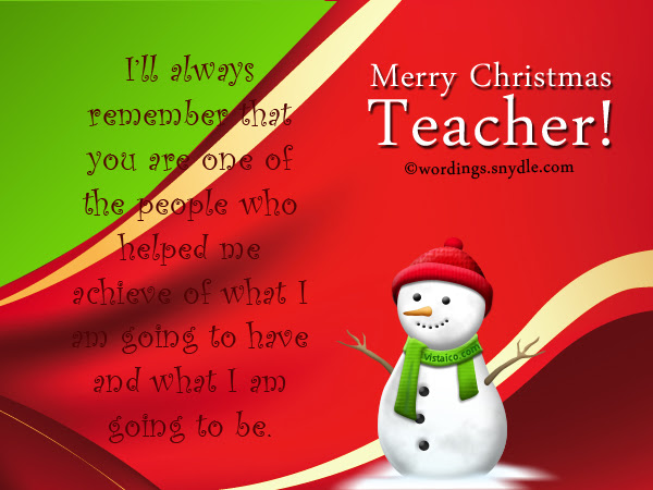 Christmas Wishes For English Teachers