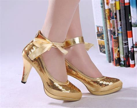 Fabulous Wholesale Gold Cheap Wedding Shoes,High Heels