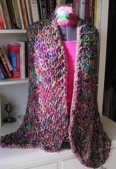 Turkish stitch shawl