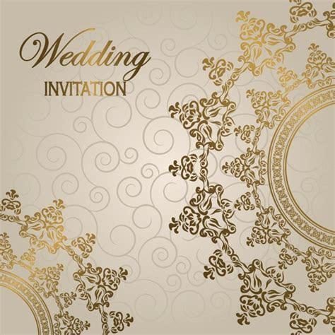 Gorgeous European style wedding invitation card vector