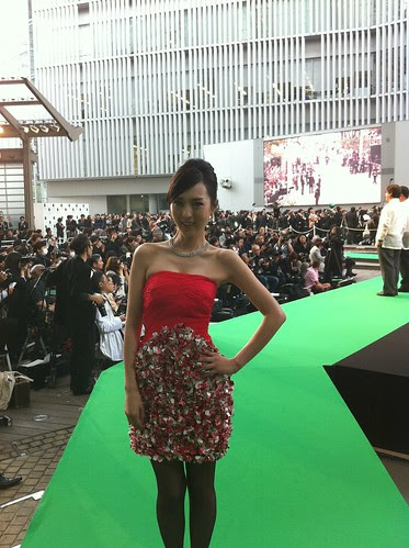 Kiki Sugino at the end of the Green Carpet