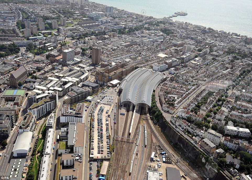 Μια άποψη του Brighton σταθμό στο Ανατολικό Σάσεξ, το οποίο θα αποτελέσει μέρος της £ 6.500.000.000 Thameslink σιδηροδρομικό έργο, το οποίο συνδέει το σταθμό με το κεντρικό Λονδίνο