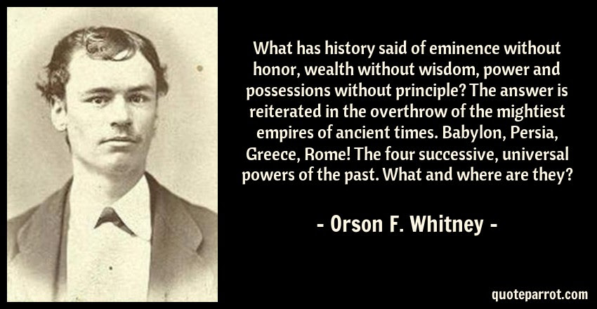 What Has History Said Of Eminence Without Honor Wealth By Orson