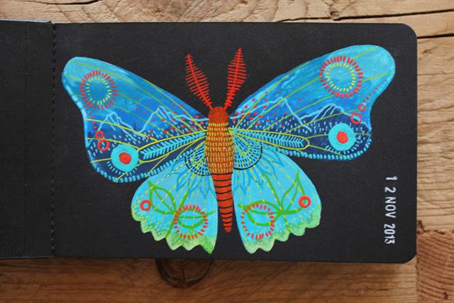 Butterfly 'on black'