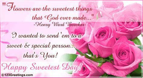 Sending You The Sweetest Things  Free Flowers & Roses