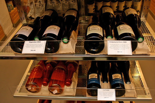 A small selection of wines