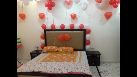 Romantic Room Decoration For First Wedding Anniversary