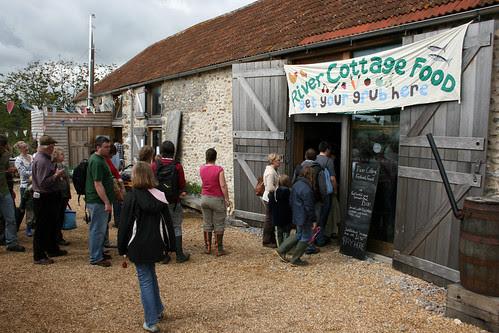 River Cottage food queue