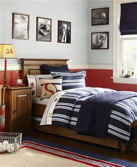 boy rooms neutral  classy simple baseball