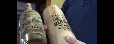 Bryan Fite was replacing wires when he discovered a liquid treasure hidden under the floorboards. (ABC)