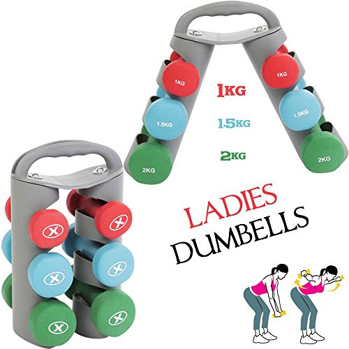 Generic Vinyl Dumbbell Set Ladies Aerobic Home Weights Training Gym Fitness Workout <1&2711*1>
