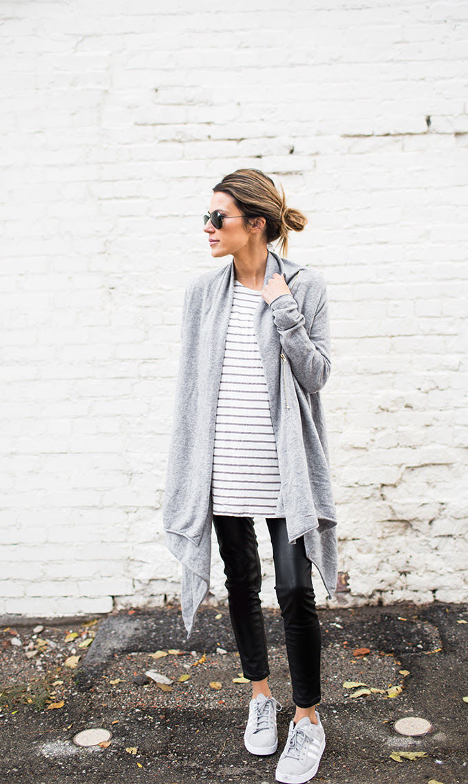 stripes and oversized cardigan under a 100  hello fashion