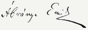Ábrányi Emil aláírása