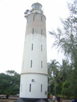 A 110-year-old lighthouse that guards the entrance to Lagos harbour near Tarkwa Bay.
