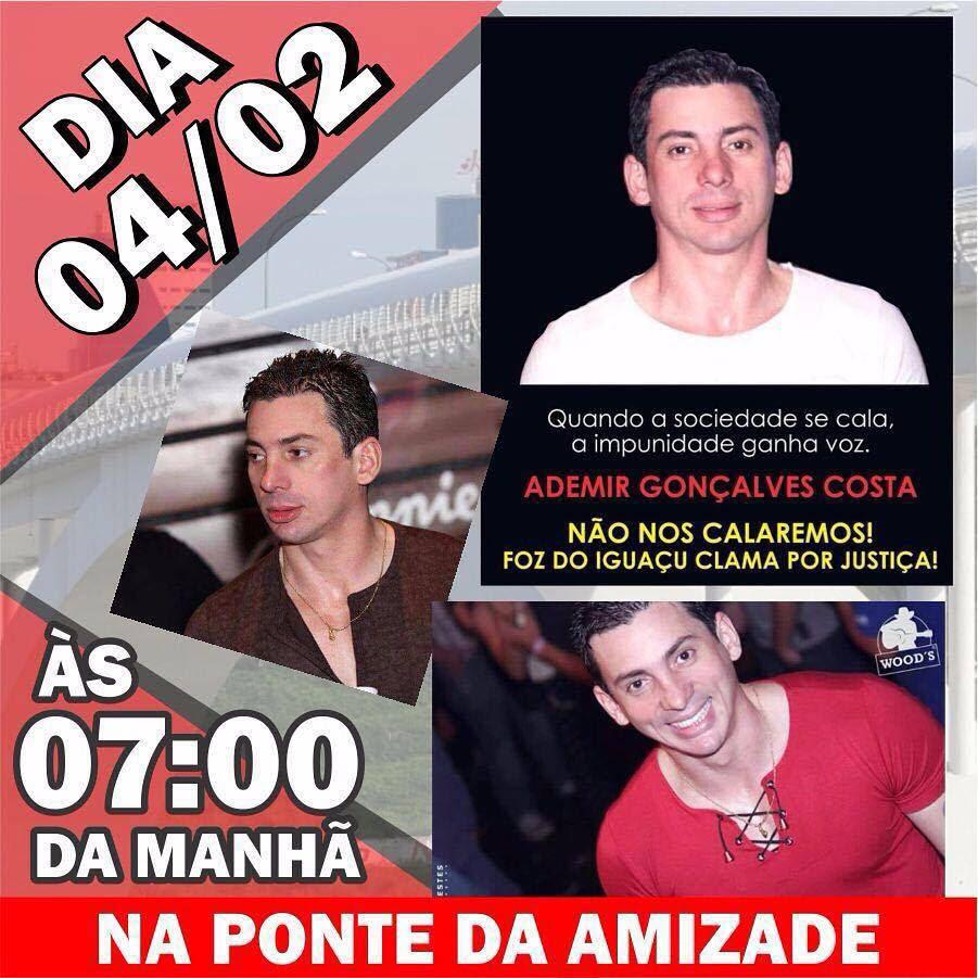 Revoltada com o que aconteceu, a população de Foz do Iguaçu programa uma manifestação sábado (04/02) na Ponte Internacional da Amizade.