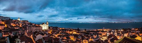 Lisboa de noche, panorámica