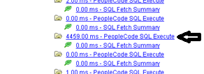 Figure 9: Long SQL transaction further down same PMU tree