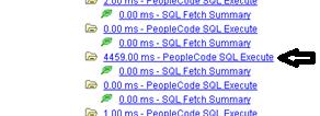 Figure 9: Long SQL transaction further down same PMU tree